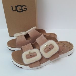 New UGG Fluff Indio Sandals Size 7.5